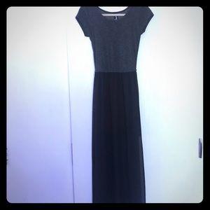 Grey & Black T-shirt Dress